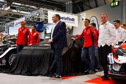 Le team Citroen WRC, avec Kris Meeke, Craig Breen et Yves Matton