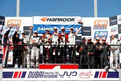 Podium SPX: Winners #37 Tsunami R.T. Porsche 991 Cup MR II: Andrii Kruglyk, Come Ledogar, Oleksandr
