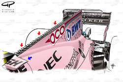 Force India VJM10 engine cover, Singapore GP, captioned