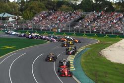 Sebastian Vettel, Ferrari SF71H au départ