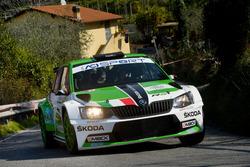 Umberto Scandola, Guido D'Amore, Skoda Fabia R5, SA Motorsport Italia
