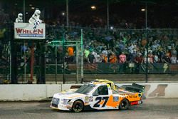Race winner Chase Briscoe, ThorSport Racing, Ford F-150 Ford beats Grant Enfinger, ThorSport Racing, Ford F-150 to the finish line