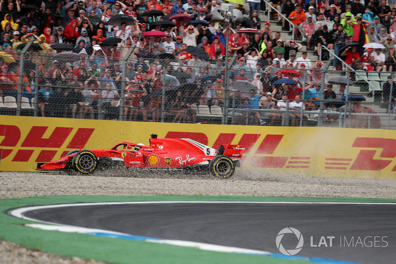 Accidente de Sebastian Vettel, Ferrari SF71H