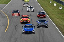 #33 Winward Racing / HTP Motorsport, Mercedes-AMG, GS: Russell Ward, Damien Faulkner, #15 Multimatic Motorsports, Ford Mustang GT4, GS: Scott Maxwell, Chase Briscoe