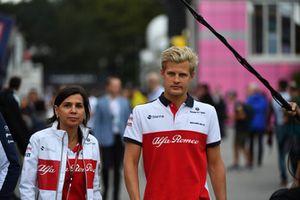 Marcus Ericsson, Sauber, Maria Guidotti, Sauber