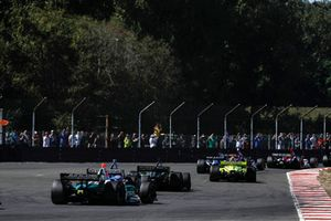 Alfonso Celis Jr., Juncos Racing Chevrolet, Scott Dixon, Chip Ganassi Racing Honda, Charlie Kimball, Carlin Chevrolet, Simon Pagenaud, Team Penske Chevrolet
