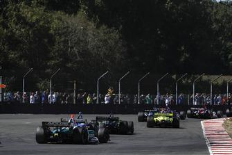 Alfonso Celis Jr., Juncos Racing Chevrolet, Scott Dixon, Chip Ganassi Racing Honda, Charlie Kimball, Carlin Chevrolet, Simon Pagenaud, Team Penske Chevrolet