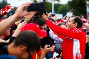 Marc Gene, Ferrari, signs autographs for fans