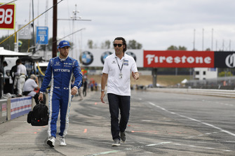 Ed Jones, Chip Ganassi Racing Honda, mit Dario Franchitti