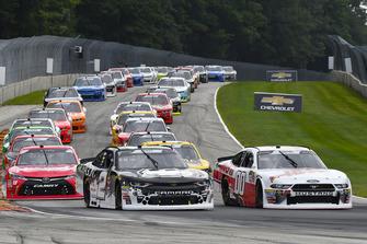 Matt Tifft, Richard Childress Racing, Chevrolet Camaro Dragon Alliance and Cole Custer, Stewart-Haas Racing, Ford Mustang Haas Automation
