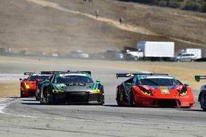 #48 Paul Miller Racing Lamborghini Huracan GT3, GTD: Madison Snow, Bryan Sellers, #44 Magnus Racing Audi R8 LMS GT3, GTD: John Potter, Andy Lally