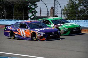 Denny Hamlin, Joe Gibbs Racing, Toyota Camry FedEx Ground, Kyle Busch, Joe Gibbs Racing, Toyota Camry M&M's Flavor Vote Winner