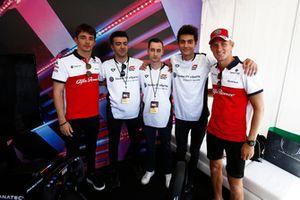 Marcus Ericsson, Charles Leclerc, Sauber con i piloti eSport