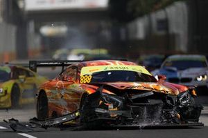 Car of #888 Mercedes-AMG Team GruppeM Racing Mercedes AMG GT3: Maro Engel after the crash