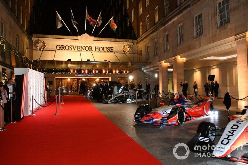 Coches de la Fórmula 1, Fórmula E y W Series
