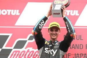 Podium: winnaar Luca Marini, Sky Racing Team VR46