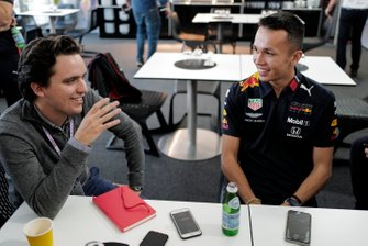 Alex Albon, Red Bull Racing speaks to the media