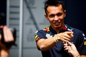 Alex Albon, Red Bull Racing speaks to the media