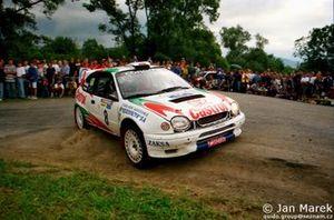 Robert Gryczyński, Tadeusz Burkacki, Toyota Corolla WRC, Rajd Polski 1998