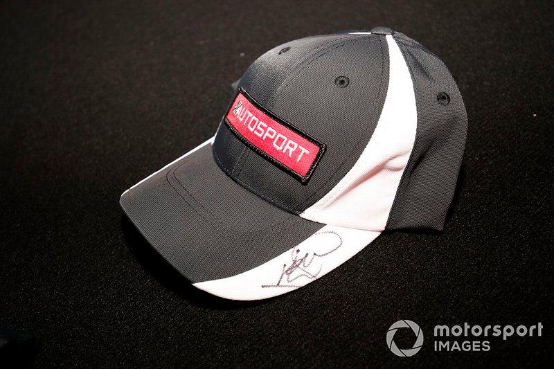 An Autosport cap signed by Lando Norris