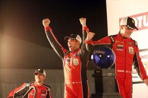 GTLM ganadores #62 Risi Competizione Ferrari 488 GTE: Alessandro Pier Guidi, James Calado, Daniel Serra
