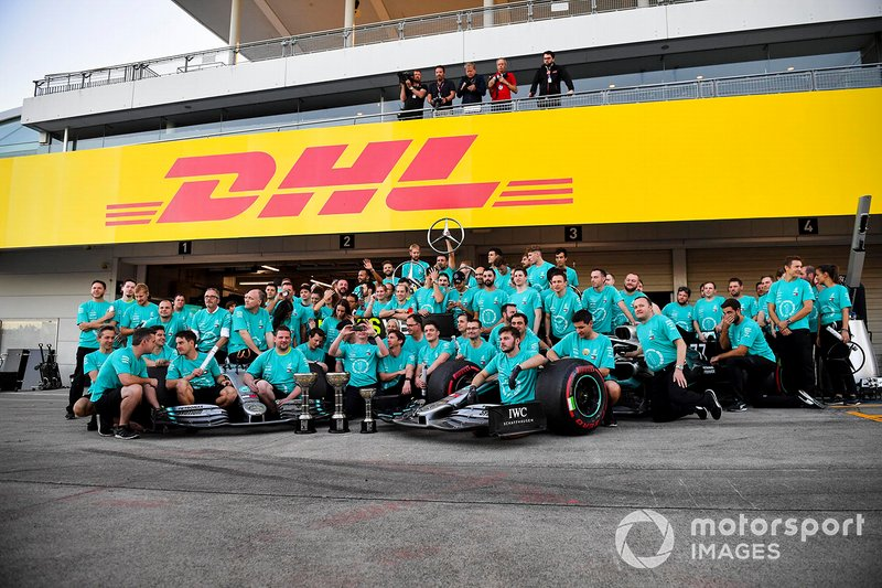 Mercedes AMG F1 team photograph