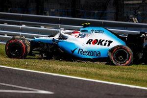 Robert Kubica, Williams FW42, crashes in Q1