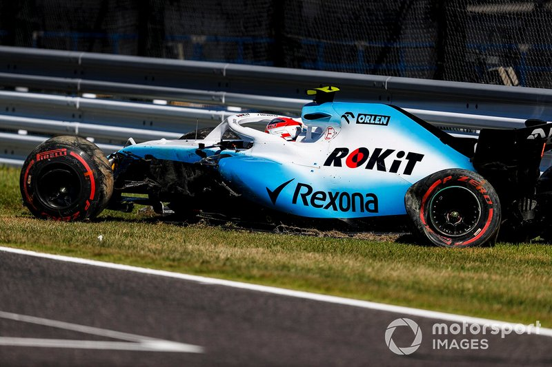 Robert Kubica, Williams FW42 (wypadek w kwalifikacjach)