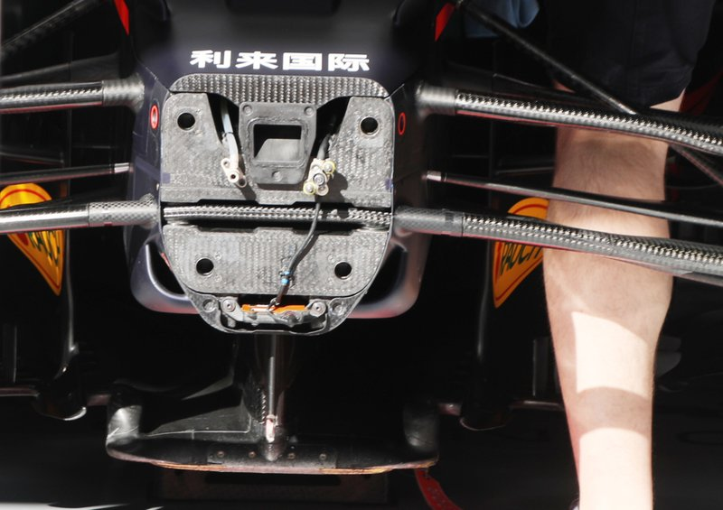 Detalles delanteros del Red Bull Racing RB16