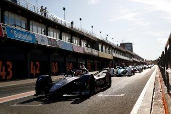 Nico Müller, Dragon Racing, Penske EV-4 exits the pit lane