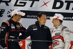 Podium: Narain Karthikeyan, Nakajima Racing Honda NSX-GT, Satoru Nakajima, Loic Duval, Audi Sport Team Phoenix Audi RS5 DTM