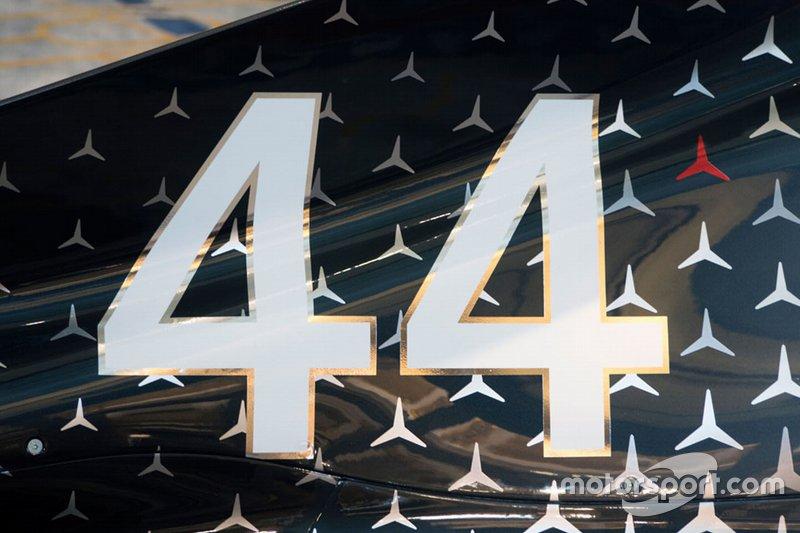 Detalle del monoplaza de Lewis Hamilton, Mercedes AMG F1