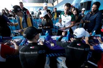 Stoffel Vandoorne, Mercedes Benz EQ, Nyck De Vries, Mercedes Benz EQ sign autographs for fans