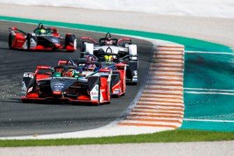 Daniel Abt, Audi Sport ABT Schaeffler, Audi e-tron FE06 Pascal Wehrlein, Mahindra Racing, M6Electro, Oliver Rowland, Nissan e.Dams, Nissan IMO2