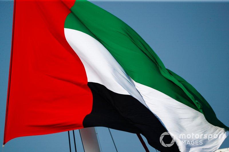 La bandera de Emiratos Árabes Unidos