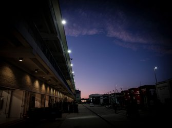 Garage, sunset, night