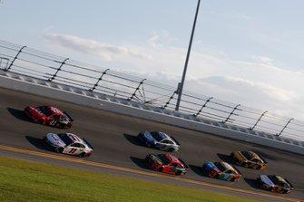 Denny Hamlin, Joe Gibbs Racing, Toyota Camry FedEx Express Cole Custer, Stewart-Haas Racing, Ford Mustang Haas Automation