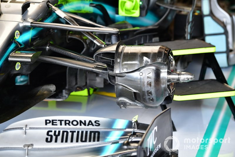 Brake duct on the Mercedes AMG F1 W10