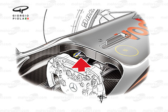 McLaren MP4/25 f duct section