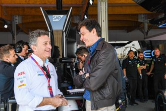 Alejandro Agag, voorzitter Formula E, Toto Wolff, teambaas Mercedes AMG F1 Team