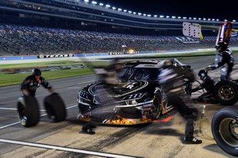 Brandon Jones, Joe Gibbs Racing, Toyota Supra iK9/Musket Powder, makes a pit stop.