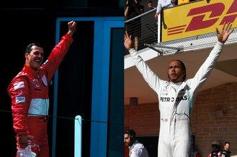 Michael Schumacher y Lewis Hamilton