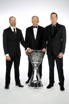 Kyle Busch, Joe Gibbs and Adam Stevens