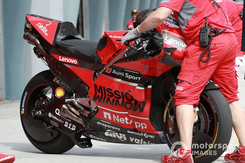 Ducati Team, bike detail