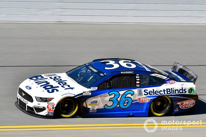 30. David Ragan, Front Row Motorsports, Ford Mustang Select Blinds