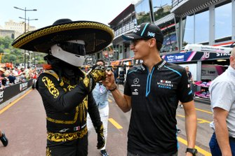 Mario Achi, Mexican GP Promoter with George Russell, Williams Racing