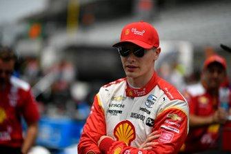 Josef Newgarden, Team Penske Chevrolet durante la competencia en boxes
