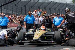 James Hinchcliffe, Arrow Schmidt Peterson Motorsports Honda, during pit stop competition