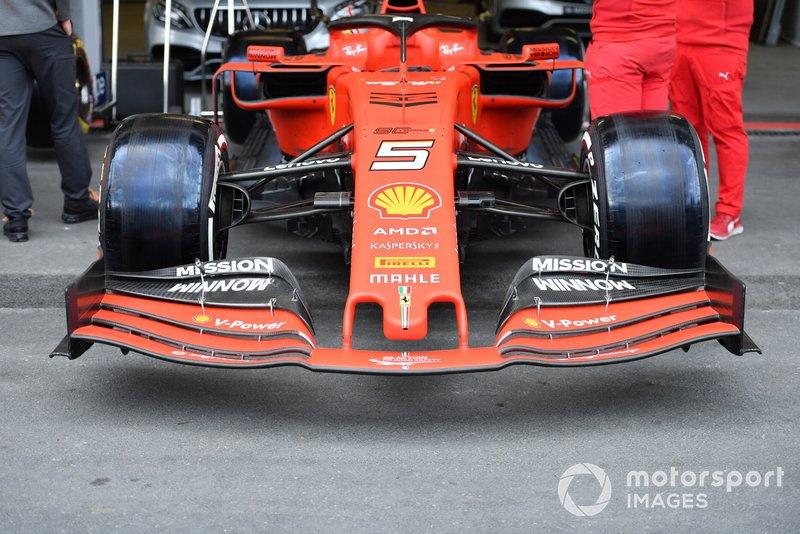 Alerón delantero de Sebastian Vettel, Ferrari SF90