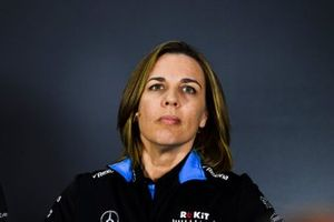 Claire Williams, Deputy Team Principal, Williams Racing In the Press Conference